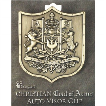 VISOR CLIP-COAT OF ARMS METAL