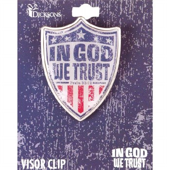 IN GOD WE TRUST SHI-VISOR CLIp