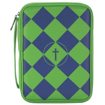 Vinyl Bible Cover Blue Green