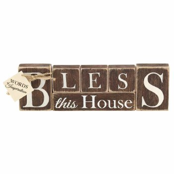 "BLESS Wood Block 10"""