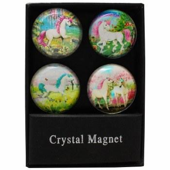 Unicorn Paradise Glass Magnet