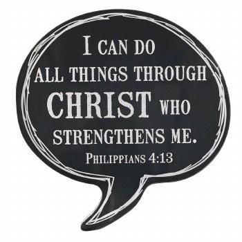 Through Christ Bubble Magnet