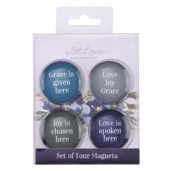 Love Joy Grace Glass Magnet Se