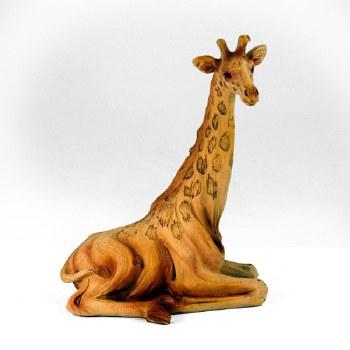 Wood-like Sitting Giraffe