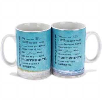 Footprints Mug Stoneware