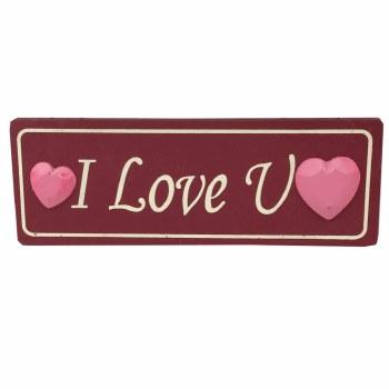I Love You - Valentine Plaque