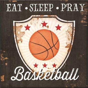 EAT SLEEP PRAY BASKET PLQ