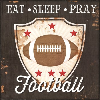 EAT SLEEP PRAY FOOTBALL PLQ