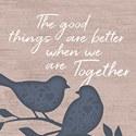 """Better Together Birds"" Square"