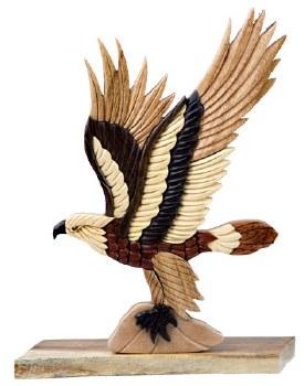 Flying Eagle Wood Statue #2