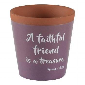 A faithful Friend Flower Pot