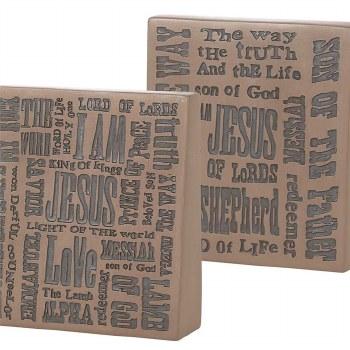 Names Of Jesus Wedge Plaque