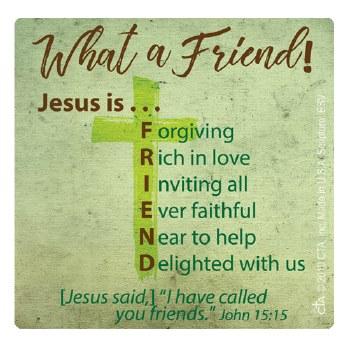 WHAT A FRIEND SCRIPTURE MAGNET