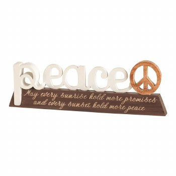 Peace Word Figurine