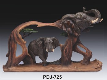 Wood-like Elephant Scenery