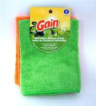 Gain Microfiber Cloth 2ct