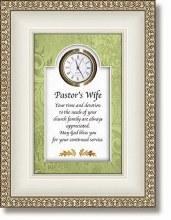 Pastors Wife Table Clock
