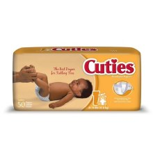 CUTIES DIAPERS 8-14LB 50CT