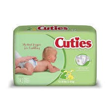 CUTIES DIAPERS 12-18LB 42 JUMB