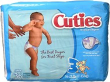 CUTIES DIAPERS 16-28LB 36CT