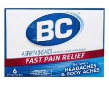 BC Headache Travel 6 Pouches