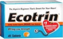 ECOTRIN 81MG 45TAB