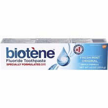 biotene toothpaste 4.3oz fmint