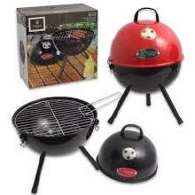 BBQ GRILL CHARCOAL BLK/RED