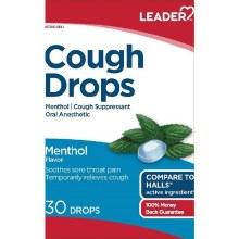 LDR Cough Drops Menthol 30