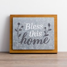 Bless This Home - Wood/Metal