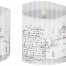 "Flicker ""Lord's Prayer"" Candle"