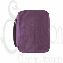 Canvas Bible Cover Violet