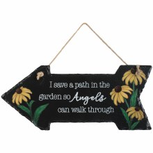 Angels' Path Slate Garden PLQ