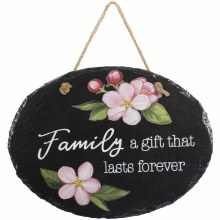 """Family"" Slate Garden Plaque"