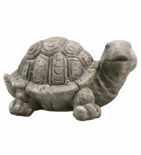 Happy Tortoise Statue 14.5""