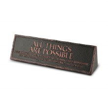 All Things Are Possible Plaque
