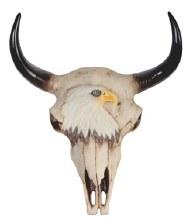 Buffalo Skull Wall Plaque-Eagl