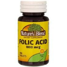 N/b folic acd 1000 mcg tab 100