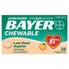Bayer aspirin chld chw tab