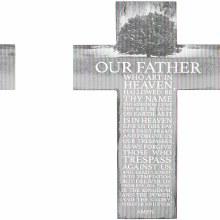 """Lord's Prayer"" Prayer Cross"