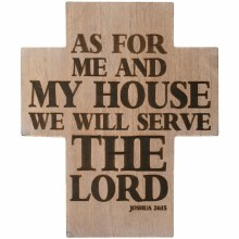 """""""Serve The Lord"""" Wall Cross"""