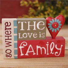 Love Is Family Blocks