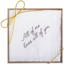 """All Of Me"" Boxed Handkerchief"