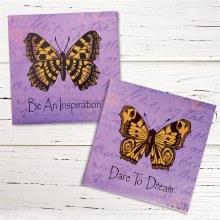 Butterfly Wall Sign Purple