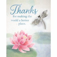 Thanks Brooch Greeting Card