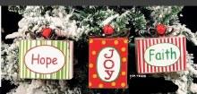 Hope Joy Faith Present Ornamen