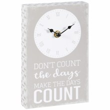 """Count The Days"" Table Clock"