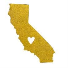 Heart California Car Magnet
