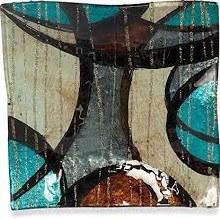 "Modern Swirl Square Plate 6"""