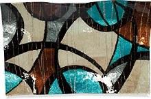 "Modern Swirl Rect Plate 17"""